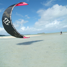 Kite-Surfen und Windsurfen